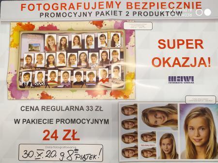 Informujemy, że 30.10.2020r. (piątek) będzie możliwość wykonania zdjęć.