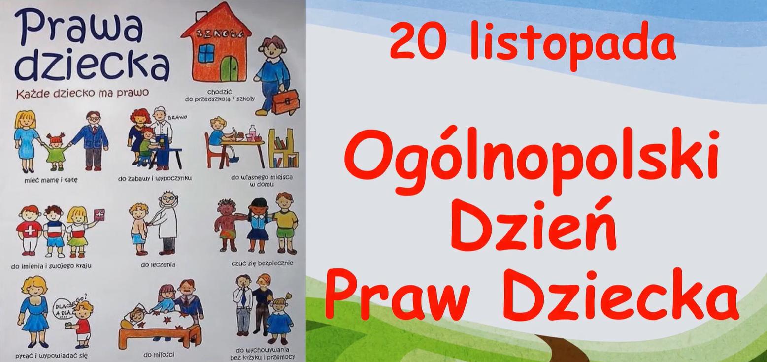 20 listopada - Ogólnopolski Dzień Praw Dziecka